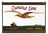 Lot 117 - A VERY RARE ILLUMINATED TRAVEL AGENT'S SIGN FOR CUNARD LINE, CIRCA 1920