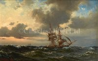 Lot 8 - WILHELM MELBYE (DANISH, 1824-1882)<br/>A Brig...
