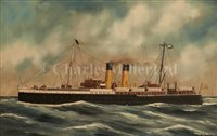 Lot 21 - ALFRED J. JANSEN (DUTCH, 1859-1935) The Cargo...