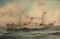 Lot 22 - ALFRED J. JANSEN (DUTCH, 1859-1935) Passenger...