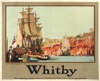 "Lot 51 - ""Whitby"": A CAPTAIN COOK ADVERTISING POSTER, CIRCA 1935"