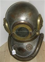 Lot 215-A 12-BOLT COPPER AND BRASS DIVING HELMET BY...