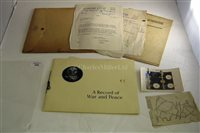 "Lot 225-""A RECORD OF WAR AND PEACE""<br/>publicity brochure..."