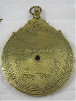 Lot 259 - A 19TH-CENTURY MAGHRIBI ASTROLABE AFTER ISA...