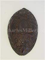 Lot 72-A FINELY CARVED SAILOR WORK HALF COCONUT SHELL, CIRCA 1800