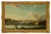 Lot 19-JOHN THOMAS SERRES (ENGLISH, 1759-1825) - The Entrance to Plymouth Sound
