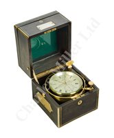 Lot 174 - A TWO-DAY MARINE CHRONOMETER BY HEWITT & SON, LONDON, CIRCA 1865