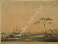 Lot 106 - AFTER THOMAS DANIELL (1740-c1809) View taken on the esplanade, and another after Huggins