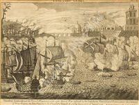 Lot 117 - ENGLAND'S GLORY, A SET OF FIVE ENGRAVINGS, ENGLISH SCHOOL, 18TH CENTURY