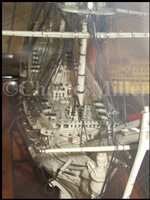 Lot 261 - A LARGE, FINELY CARVED AND WELL PRESENTED EARLY 19TH CENTURY NAPOLEONIC FRENCH PRISONER OF WAR BONE SHIP MODEL FOR A FIRST RATE SHIP OF THE LINE TRADITIONALLY IDENTIFIED AS H.M.S. CALEDONIA