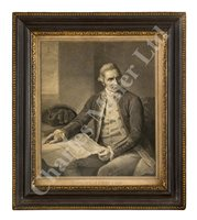 Lot 30-AN 18TH CENTURY ENGRAVING OF CAPTAIN JAMES COOK