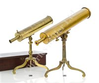 Lot 180 - A 2¾IN. REFLECTING LIBRARY TELESCOPE BY JAMES SHORT, LONDON, CIRCA 1758