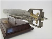 Lot 44-A RARE WORKING ELECTRIC MODEL OF A WHITEHEAD TORPEDO, PRESENTED TO AN OFFICER IN THE THAI NAVY, 6 FEBRUARY, 1914