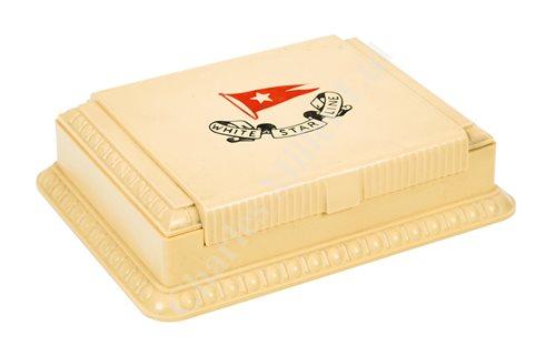 Lot 132 - A WHITE STAR LINE PLAYING CARD BOX, CIRCA 1930