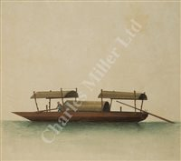 Lot 3-CHINESE SCHOOL, LATE 19TH CENTURY - Studies of Junks