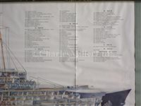 Lot 128 - FRENCH LINE PASSENGER PLANS FOR THE NORMANDIE AND THE ÎLE DE FRANCE