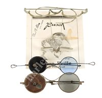 Lot 192 - A PAIR OF LUPEN-BRILLE MAGNIFYING SPECTACLES BY BUSCH, GERMANY, CIRCA 1920