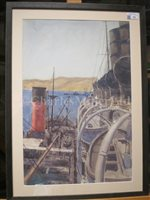 Lot 11-δ NORMAN WILKINSON (BRITISH, 1878-1971) - R.M.S. 'Mauretania' Rafted Up To A Transport, Off The Coast Of Gallipoli, 1915