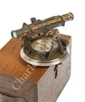 Lot 226 - A SMALL SURVEYING THEODOLITE BY BERGE, LONDON, CIRCA 1810