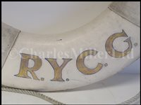 Lot 147 - A CEREMONIAL LIFE BUOY FROM THE YACHT TYGER R.Y.G.C.