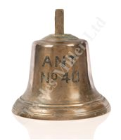 Lot 48-A BELL THOUGHT TO BE FROM ARMED NAVAL TRAWLER NO. 40, CIRCA 1915