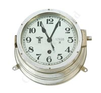 Lot 59-A THIRD REICH EIGHT DAY U-BOAT BULK HEAD CLOCK