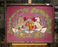 Lot 53-A FINE LATE 19TH CENTURY SAILOR'S WOOLWORK PICTURE