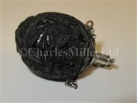 Lot 71-AN EARLY 19TH CENTURY MINIATURE SAILORWORK CARVED NUT