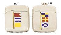Lot 152 - AN AMUSING LATE VICTORIAN 'FLAG SIGNAL' VESTA CASE, 1891