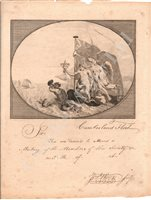 Lot 144 - THE CUMBERLAND FLEET (NOW ROYAL THAMES YACHT CLUB), A RARE LATE EIGHTEENTH CENTURY BLANK INVITATION