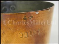 Lot 36-A SET OF GEORGE VI COPPER GROG MEASURES