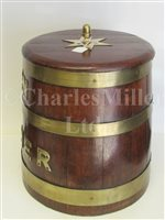 Lot 38-A ROYAL NAVY GROG CASK, SECOND-HALF 20TH CENTURY