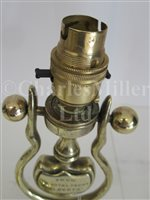 Lot 32 - A PAIR OF ELECTRIC GIMBAL LIGHTS FROM THE H.M. ROYAL YACHT ALBERTA, CIRCA 1900