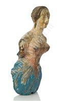 Lot 166 - AN ATTRACTIVE BRITISH MERCHANTMAN PORTRAIT FIGUREHEAD FROM THE BRIG MARY ANN OF BELFAST, 1847