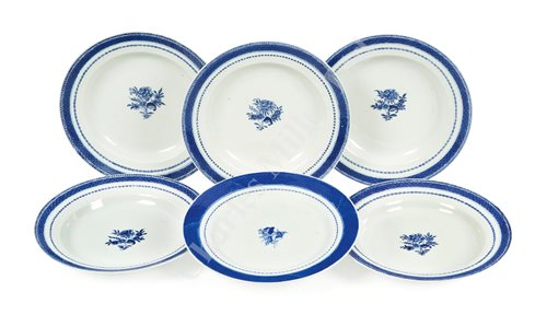 Lot 115 - FIVE CHINESE EXPORT DISHES RECOVERED FROM THE SWEDISH EAST INDIA COMPANY SHIP GÖTHEBORG, WRECK 1745, RECOVERED FROM THE MID-1980s