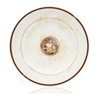 Lot 131 - A RARE AFRICAN STEAMSHIP COMPANY [ELDER DEMPSTER LINE] 'ALTON' PATTERN DINNER PLATE, BY MINTON, CIRCA 1880
