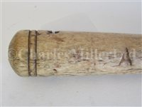 Lot 82-Ø A 19TH CENTURY SAILORWORK FID; and a model harpoon