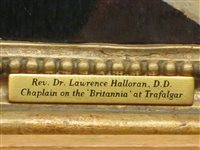 Lot 24 - ENGLISH SCHOOL, CIRCA 1780 The Rev. Dr Lawrence Halloran, D.D., Chaplain on the Britannia at Trafalgar