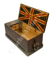 Lot 96-AN UNUSUAL AND PATRIOTIC BRITISH SAILOR'S CHEST, THIRD-QUARTER 19TH CENTURY