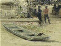 Lot 31-ROBERT TAYLOR PRITCHETT (BRITISH, 1828-1907): The Funeral of Capt. Campbell R.N. of H.M. Yacht 'Victoria & Albert II', 1877