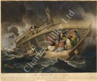 Lot 103A - 'THE HALSEWELL EAST INDIAMAN' – A CONTEMPORARY HAND-COLOURED AQUATINT