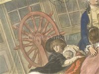 Lot 103 - 'THE HALSEWELL EAST INDIAMAN' – A CONTEMPORARY HAND-COLOURED AQUATINT