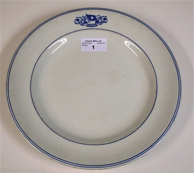 Lot 1-ABERDEEN LINE:  CHINA DINNER PLATE BY DUNN BENNETT & CO. LTD., CIRCA 1910
