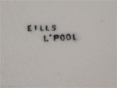 Lot 2-BLUE FUNNEL LINE (ALFRED HOLT & COMPANY):  CHINA SOUP PLATE, BY EILLS, LIVERPOOL, CIRCA 1950