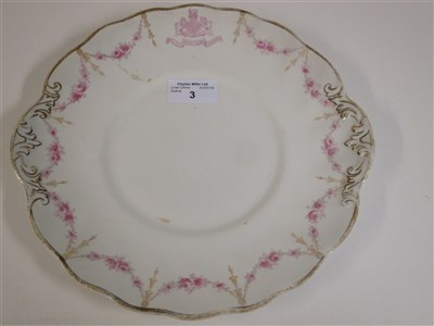 Lot 3-ALLAN LINE: CHINA PLATE BY ROYAL DOULTON, CIRCA 1900