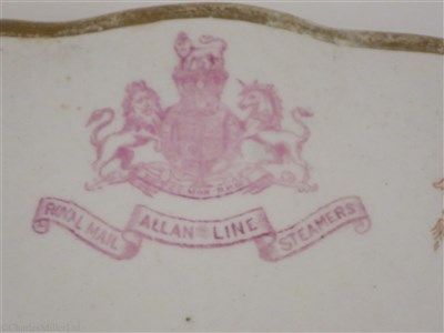 Lot 3-ALLAN LINE: CHINA PLATE BY ROYAL DOULTON, CIRCA 1900