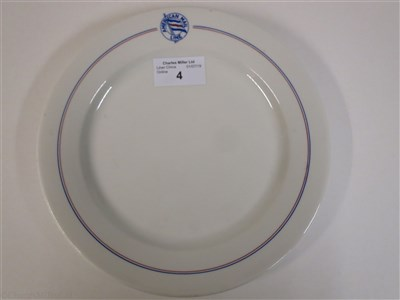 Lot 4-AMERICAN MAIL LINE:  CHINA DINNER PLATE BY BUFFALO CHINA, CIRCA 1930