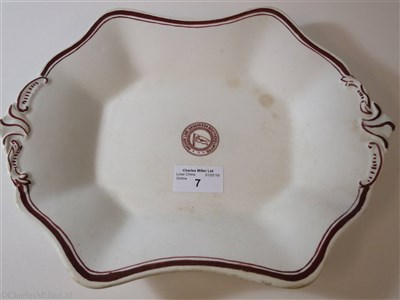 Lot 7-ANCHOR LINE (HENDERSON BROTHERS) LIMITED:  CHINA VEGETABLE PLATE, CIRCA 1918