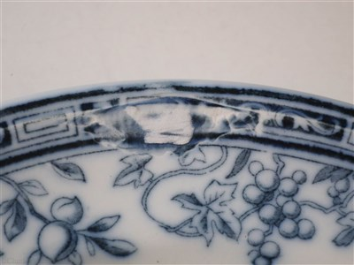 Lot 10-BIBBY LINE:  AN 'ENFIELD FRUIT' PATTERN CHINA DINNER PLATE, BY MINTON, CIRCA 1906