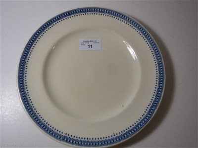 Lot 11-BLUE FUNNEL LINE (ALFRED HOLT & COMPANY):  CHINA DINNER PLATE BY ASHWORTH BROS., CIRCA 1900